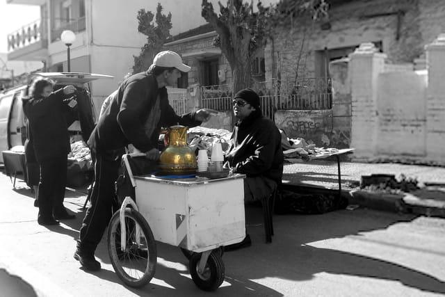 Thé au marché
