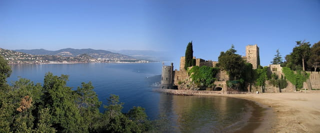 Théoule sur mer et son château