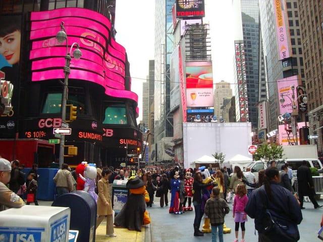 Times Square , la place la plus animée de New York
