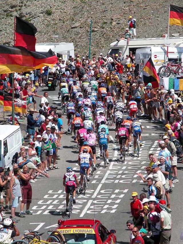 Tour 2003 montée du Galibier 12