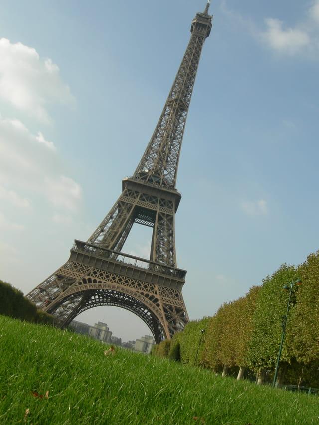 Tour Eiffel vue d'une fourmi