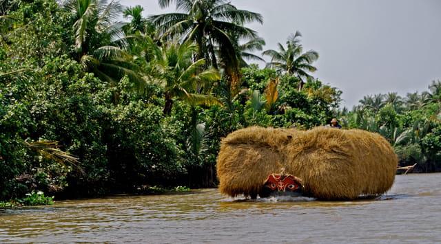 Transport fluvial sur le Mekong