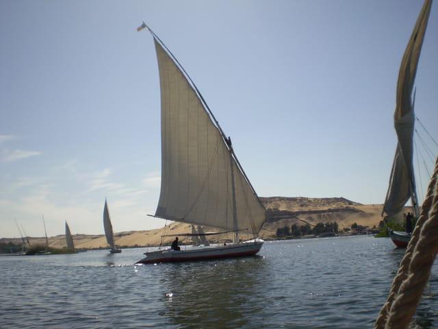 Traversée du Nil en felouque