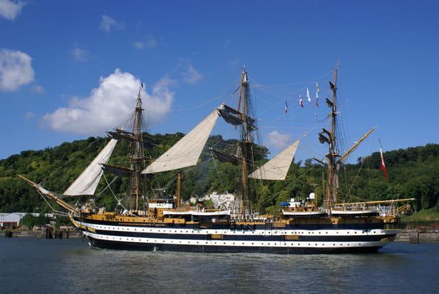 Trois-mâts barque Italien