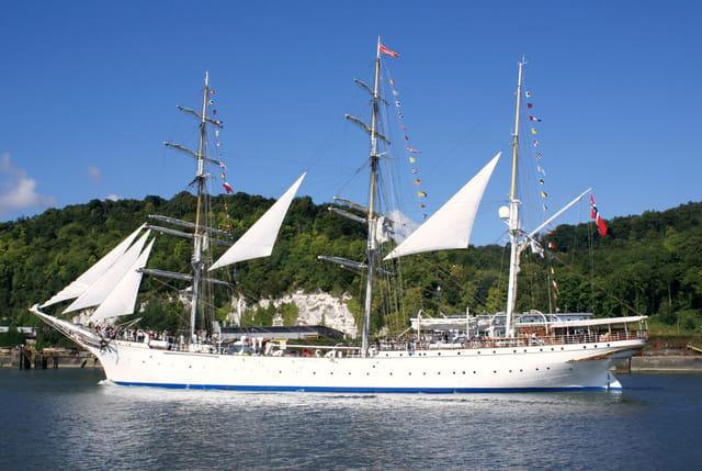 Trois-mâts barque Norvégien