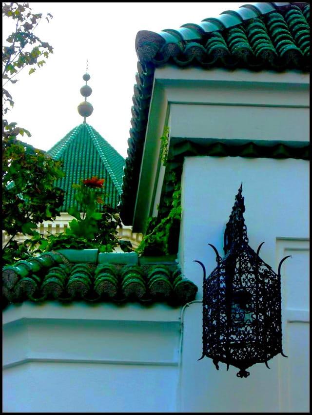 Tuiles vernissées  de la mosquée