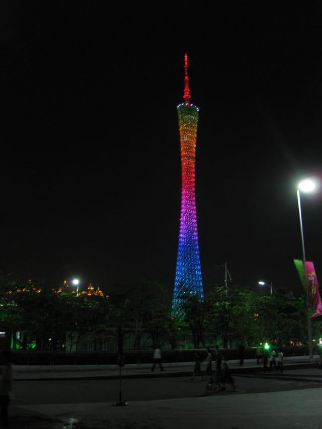 TV tower in Guangzhou by night