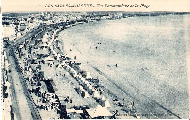 Vue panoramique de la plage