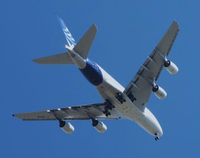 Un avion très imposant - Airbus A380.