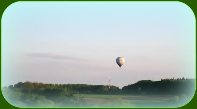 Un joli ballon, au soleil couchant
