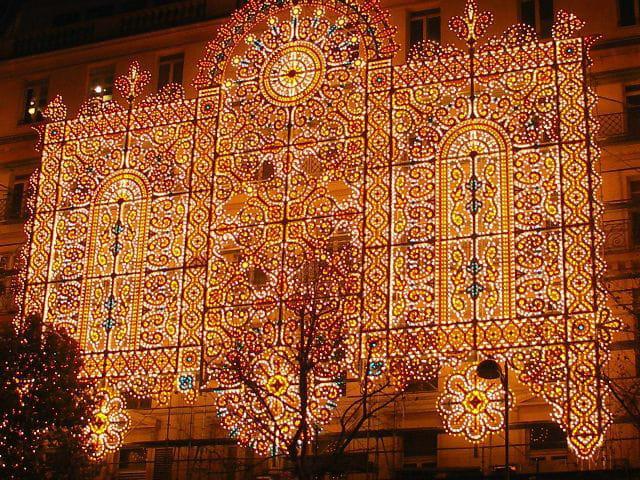 Un mur de lumières !