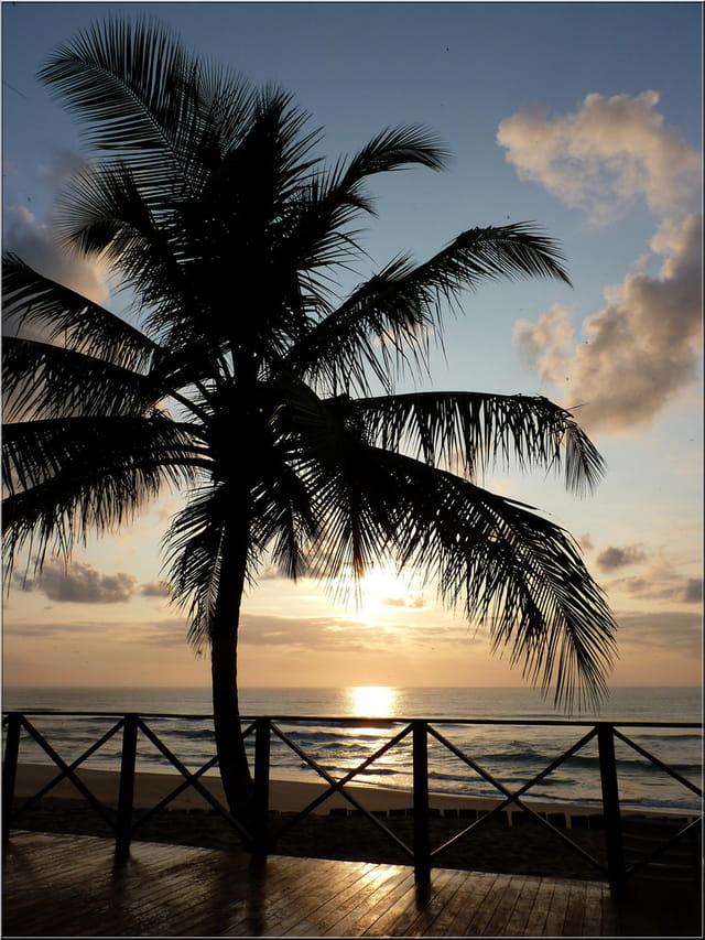 Un super coucher de soleil !