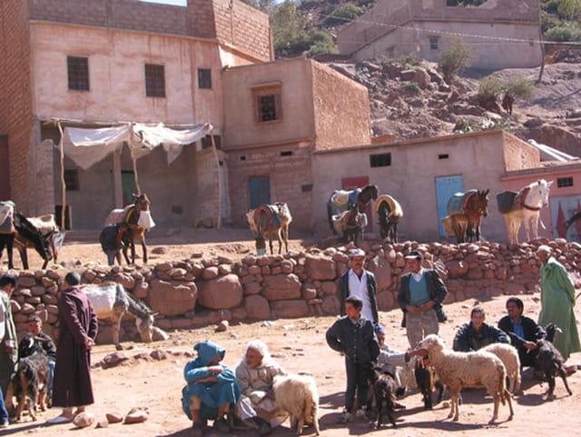 Un village dans la montagne
