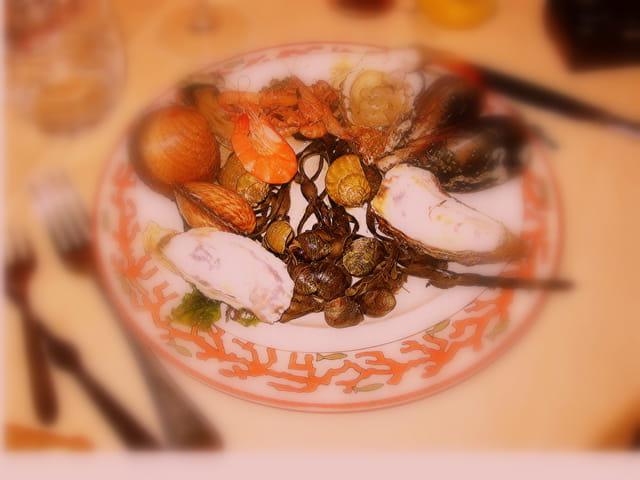 Une assiette de fruits de mer