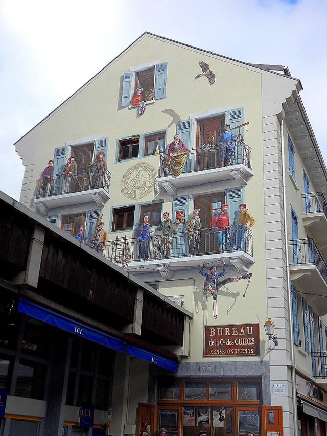 Une belle façade (Chamonix)