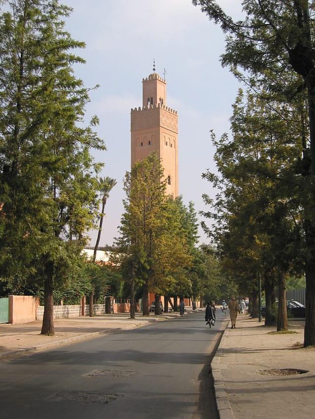 Une mosquée de marrakech