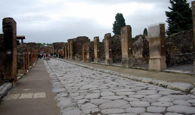 une rue de Pompéi
