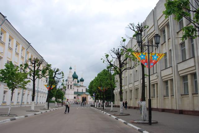 une rue en centre ville de Yaroslavl