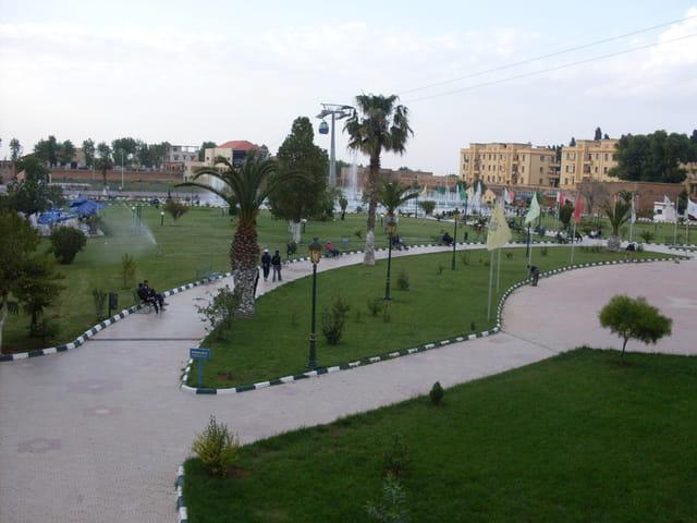 Une vue panoramique du Jardin Public.