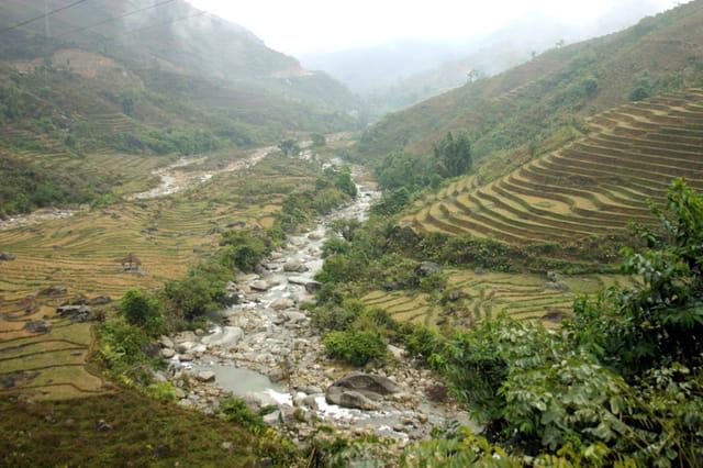 Vallée de lao cai et rizières