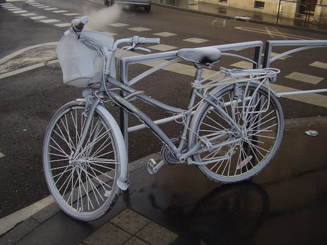 Vélo givré