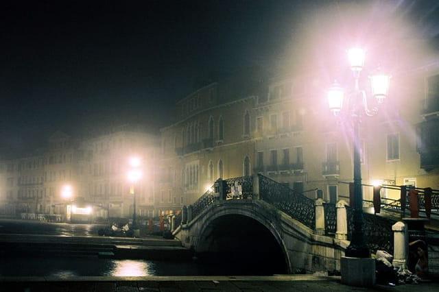 Venise. brouillard matinal