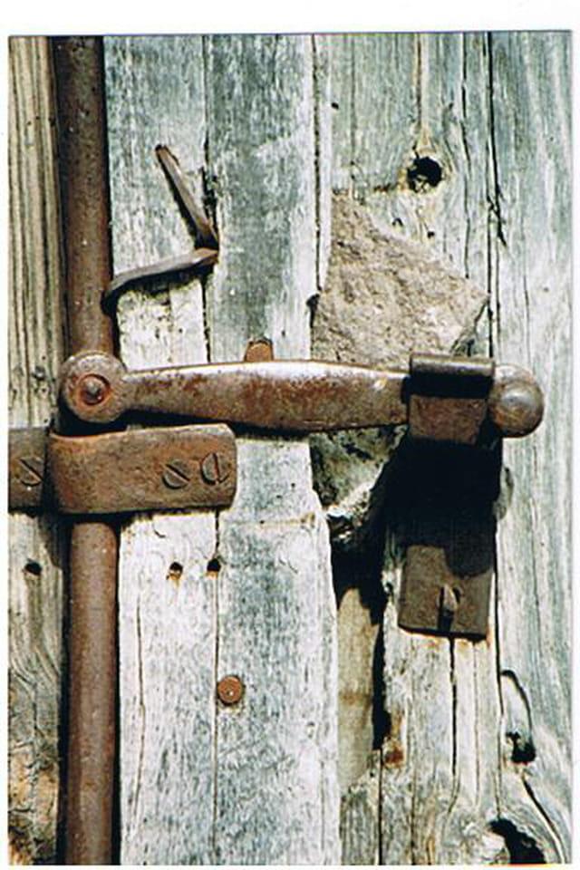 Vieille fermeture de porte