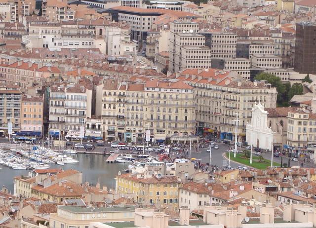 Vieux Port vue aérienne