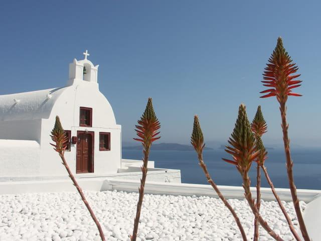 village d'Oia à Santorin