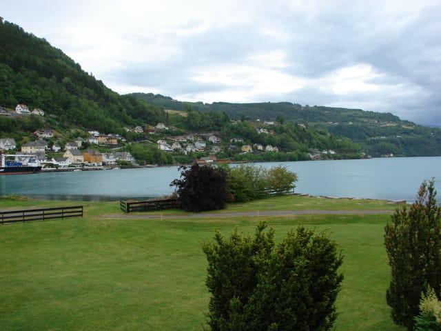 Village typique de Norvège de jour