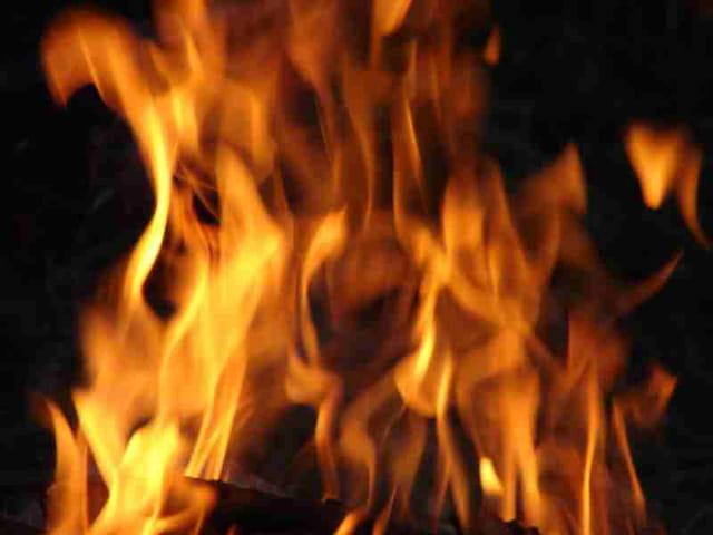 vision dans les flammes
