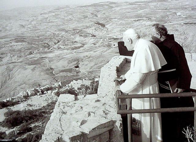 Visite papale au Mont Nebo
