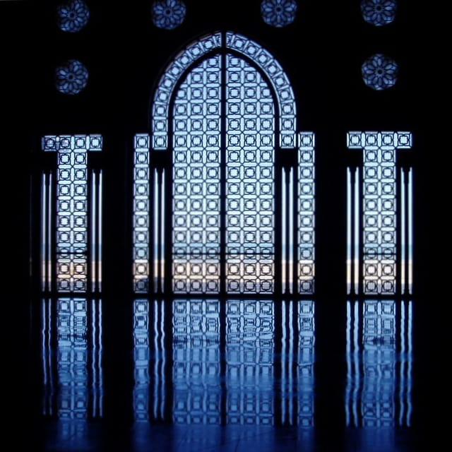 Vitrail intérieur de la mosquée