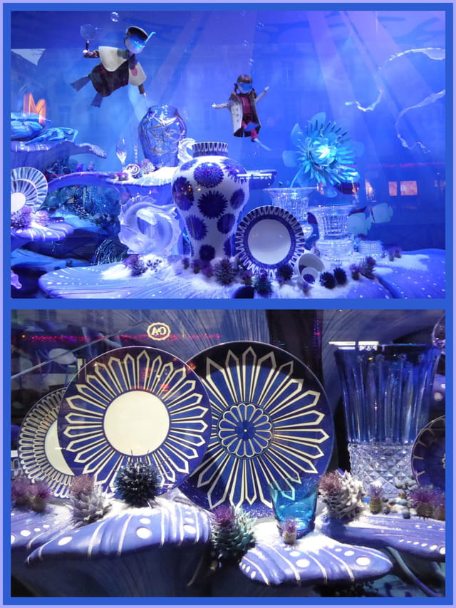 Vitrine de Noël - Féérie du bleu et du cristal