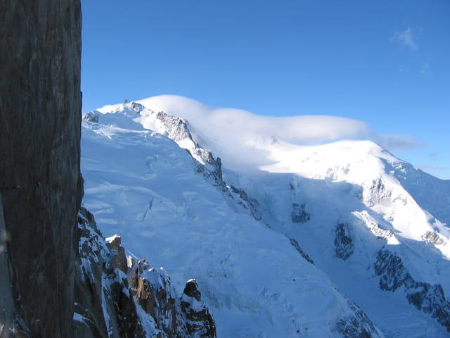 Voile blanc sur le Mont Blanc