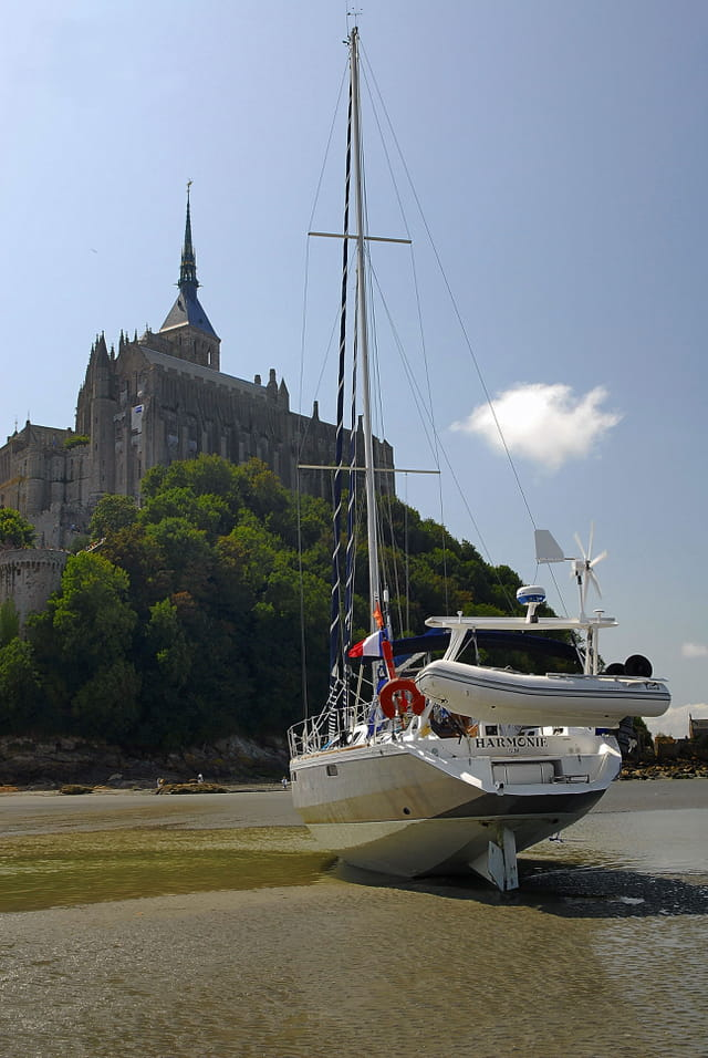 Voilier Harmonie au Mont St Michel