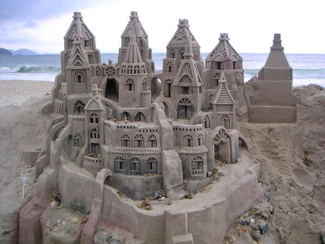 Vrai château de sable
