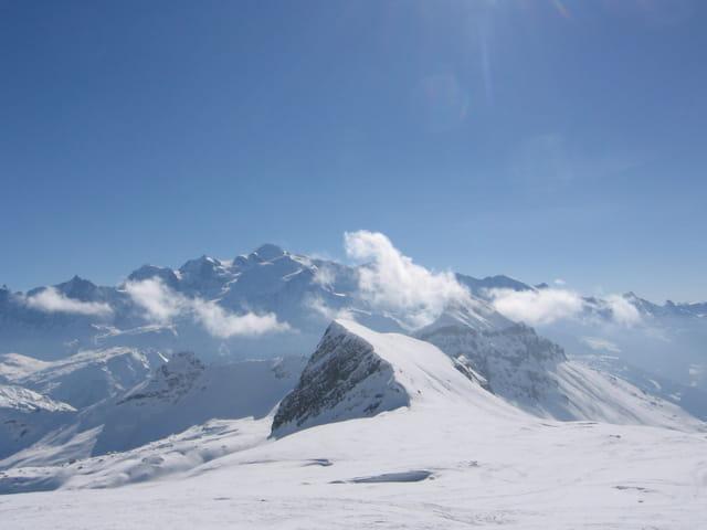 Vu sur le Mont-Blanc depuis Les Platières