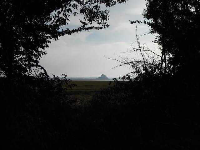 Vu sur le mont St Michel