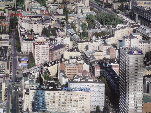 vue aérienne de varsovie