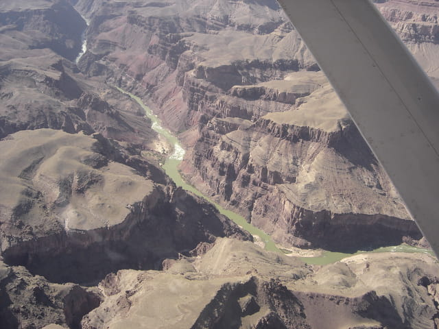 Vue d'avion - grand canyon