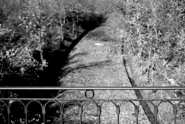 Vue d'un ancien chemin de fer
