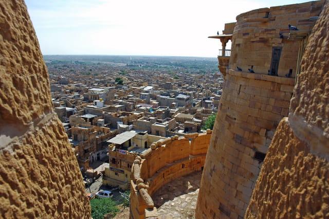 Vue de jaisalmer depuis la citadell