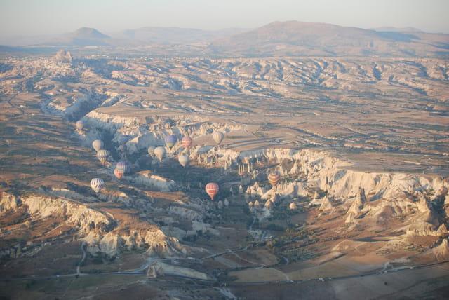 Vue de la montgolfière