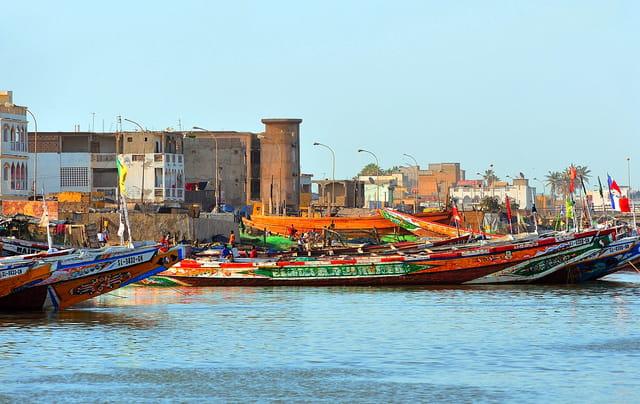 Vue de Saint-Louis du Sénégal.