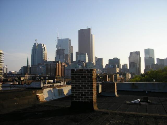 Vue des toits de toronto