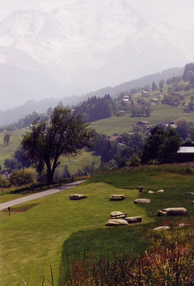 Vue (discrète) sur le Mont Blanc