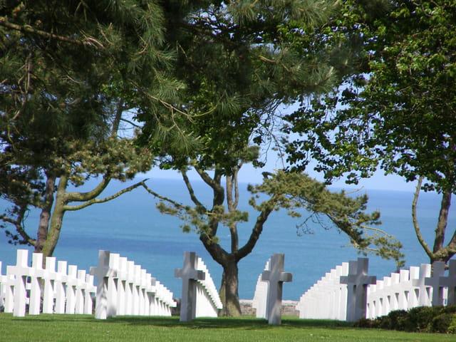 Vue du cimetière américain