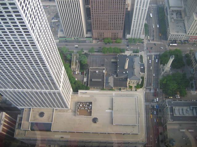 vue du haut de hancock tower