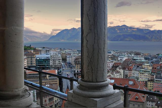 Vue du Lausanne et du Léman